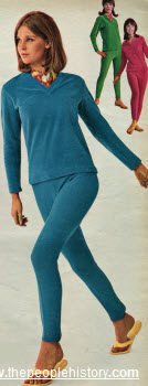 velour pullover and stretch pants
