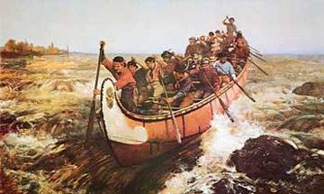 voyageurs canoe